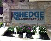 bluestone hedge landscape sign