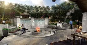 3D design of patio and fire pit